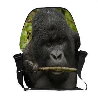 Mountain Gorilla, using tools Messenger Bags