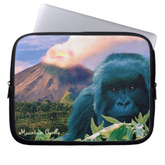 Mountain Gorilla & Volcano Wildlife Laptop Sleeve