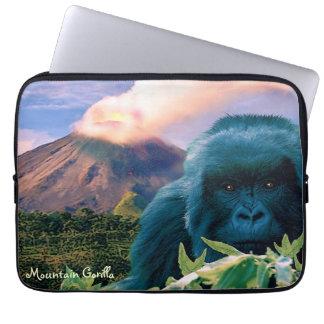 Mountain Gorilla & Volcano Wildlife Laptop Sleeve
