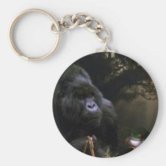Mountain Gorilla Wildlife Conservation Keychain