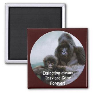 Mountain Gorillas Primate Wildlife Art Magnet