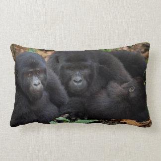 Mountain Gorillas, Volcanoes National Park Throw Pillows