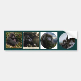MOUNTAIN GORILLAS Wildlife Multi-sticker Set #VII Car Bumper Sticker