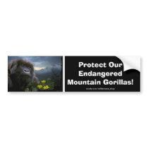 Mountain Gorillas Wildlife Support Bumper Sticker