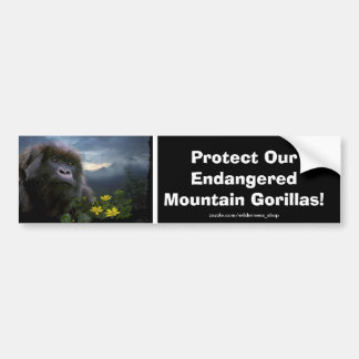 Mountain Gorillas Wildlife Support Bumper Sticker