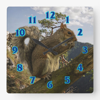 Mountain Ground Squirrel Square Wall Clock