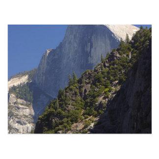 Mountain Half Dome Yosemite Streams Postcard