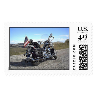 Mountain Harley Postage Stamp