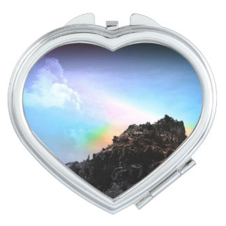 Mountain Heart Shaped Mirror Compact