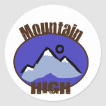 Mountain High Classic Round Sticker