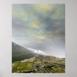 Mountain High Glacier Poster