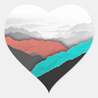 Mountain Highlights Heart Sticker