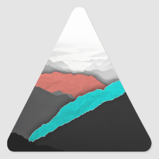 Mountain Highlights Triangle Sticker