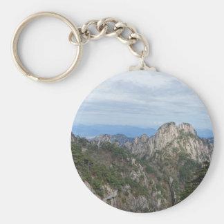 mountain hill tree keychain
