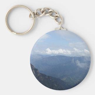 mountain hill tree sky keychain