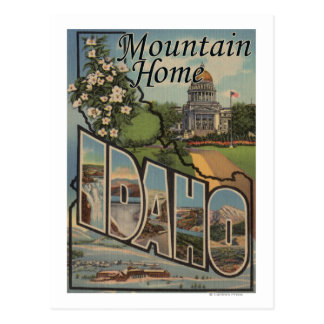 Mountain Home, Idaho - Large Letter Scenes Postcard