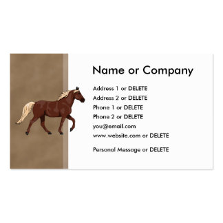 Mountain Horse Chocolate 2 Double-Sided Standard Business Cards (Pack Of 100)
