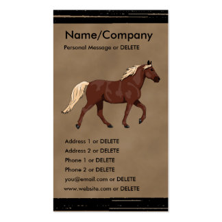 Mountain Horse Chocolate Double-Sided Standard Business Cards (Pack Of 100)