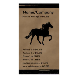 Mountain Horse Silhouette Business Double-Sided Standard Business Cards (Pack Of 100)