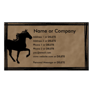 Mountain Horse Silhouette Personal Profile Double-Sided Standard Business Cards (Pack Of 100)