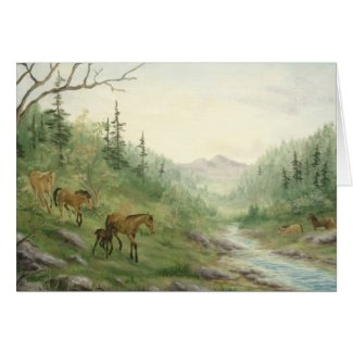 Mountain Horses Card