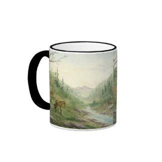 Mountain Horses Mug in Black