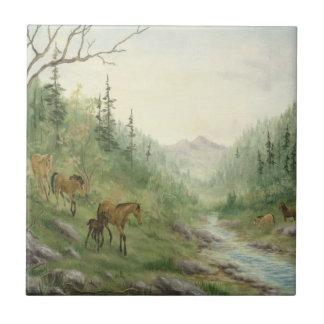 Mountain Horses Tile