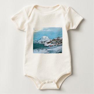 Mountain Houses Snow Davuis Strait by Ozborne W Baby Bodysuit