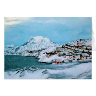 Mountain Houses Snow Davuis Strait by Ozborne W Card
