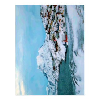 Mountain Houses Snow Davuis Strait by Ozborne W Postcard