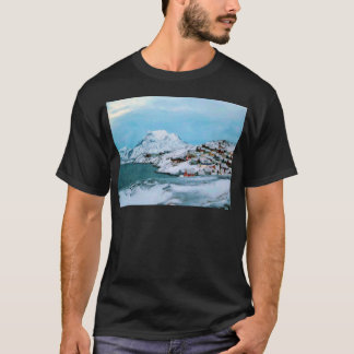 Mountain Houses Snow Davuis Strait by Ozborne W T-Shirt