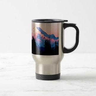 Mountain Hues Of An Autumn Sunrise Baker Travel Mug