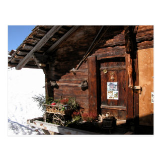 Mountain hut, Gimmelwald, Jungfrau,Switzerland Postcard