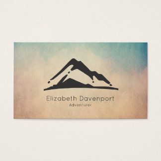 Mountain Illustration in Black Business Card