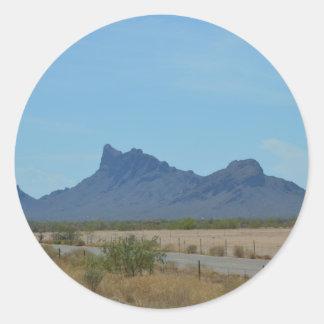 Mountain in Arizona Classic Round Sticker