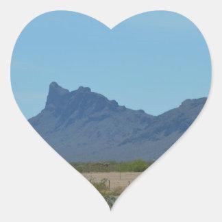 Mountain in Arizona Heart Sticker