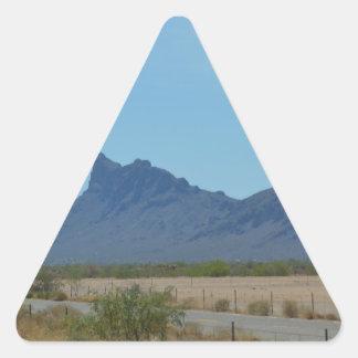 Mountain in Arizona Triangle Sticker
