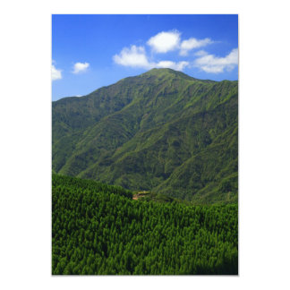 Mountain in Azores islands Card