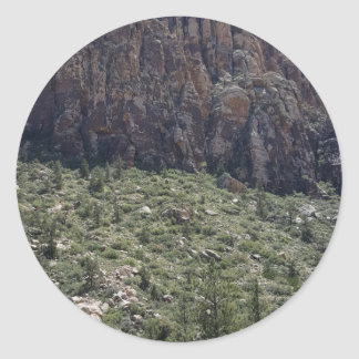 Mountain in Red Rock NV Classic Round Sticker