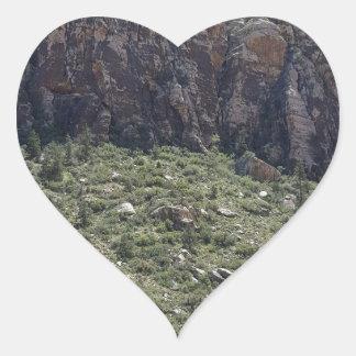 Mountain in Red Rock NV Heart Sticker
