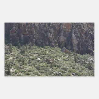 Mountain in Red Rock NV Rectangular Sticker