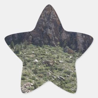 Mountain in Red Rock NV Star Sticker