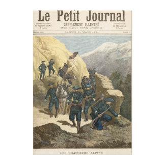 Mountain Infantrymen Stretched Canvas Print