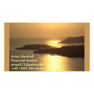 Mountain Island Sunset-Santorini Double-Sided Standard Business Cards (Pack Of 100)