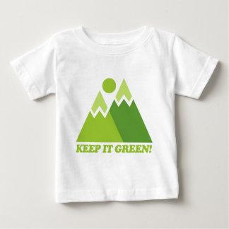Mountain Keep It Green Baby T-Shirt