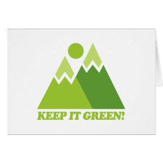 Mountain Keep It Green Card