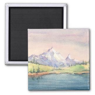 MOUNTAIN LAKE by SHARON SHARPE Refrigerator Magnets