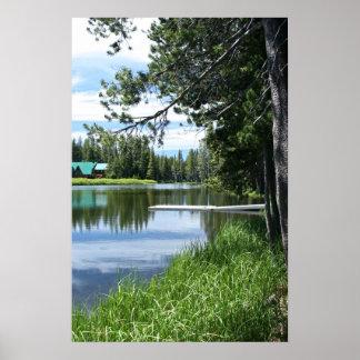 Mountain Lake, Dock Poster