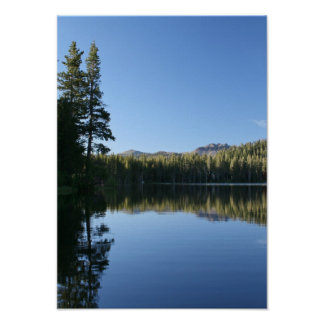 Mountain Lake, Dusk Poster