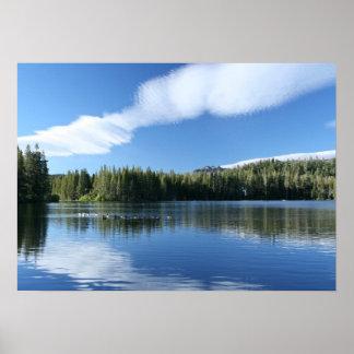 Mountain Lake, Geese Print